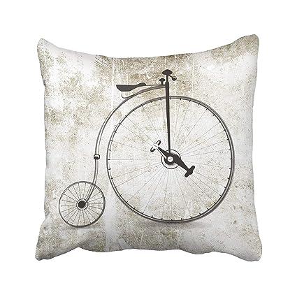 Amazon Com Bicycle Cool Bicycle Big Wheel Vintage Style Pillow