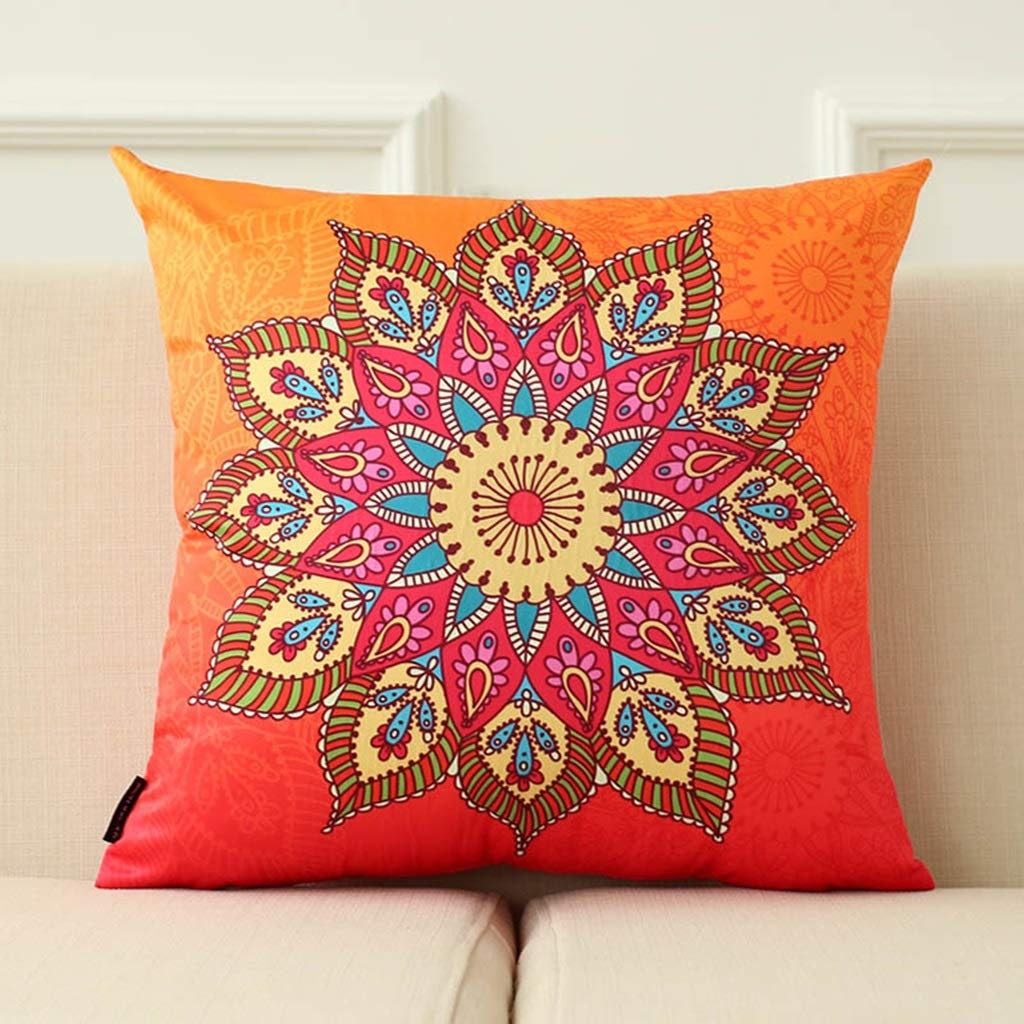 ZDNALS Printed Pillow, Red Creative Personality Pattern Pillow, Bedroom Decoration Cushion 43cm×43cm Pillow (Pattern : A)