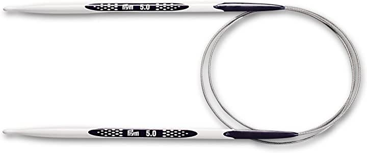 1-Pair Prym/ de Metal Multicolor /Agujas de Tejer//ergon/ómico Single-Point 7/mm Longitud de 35/cm