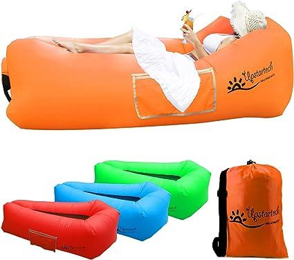 Canapé Hamac Gonflable Chaise Longue Air Sofa Matelas Gonflable Rapide Portatif Extérieur Avec Tissu Résistant Aux Déchirures Canapé Imperméable