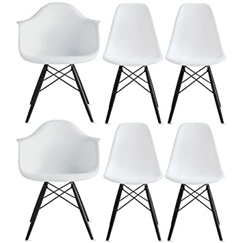 Amazon.com: 2 x estilo de Home – Set de seis (6) – Eames ...