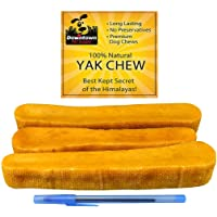 Himalayan Yak Dog Chew, 100% Natural Dog Chews, Value Pack (~ 1 lb, Multiple Chews), by Downtown Pet Supply