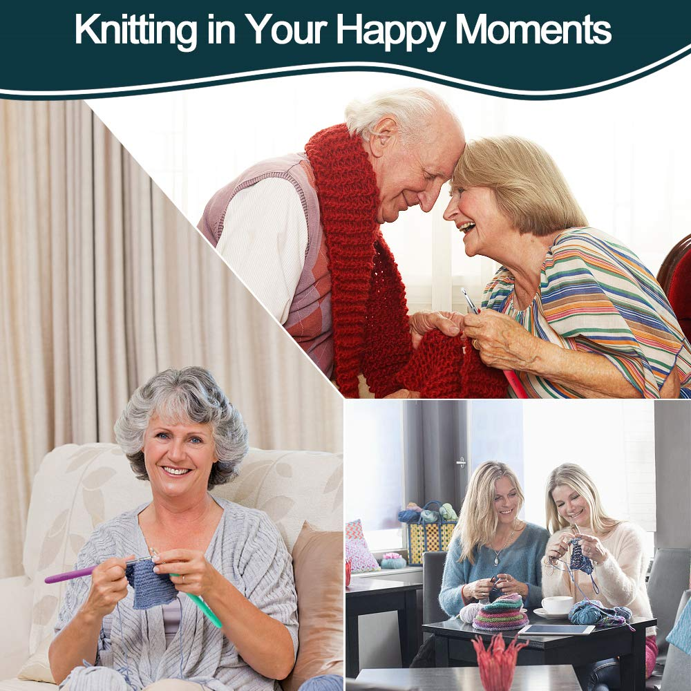 32Pack Crochet Hooks Set Ergonomic Soft Handles - Aluminum Blunt Needles - Knitting Needle - 2.0mm-8.0mm, Best Gifts for Mom by Flammae (Image #6)