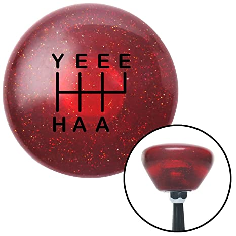 Yellow The Fast Life Clear Flame Metal Flake with M16 x 1.5 Insert American Shifter 295540 Shift Knob