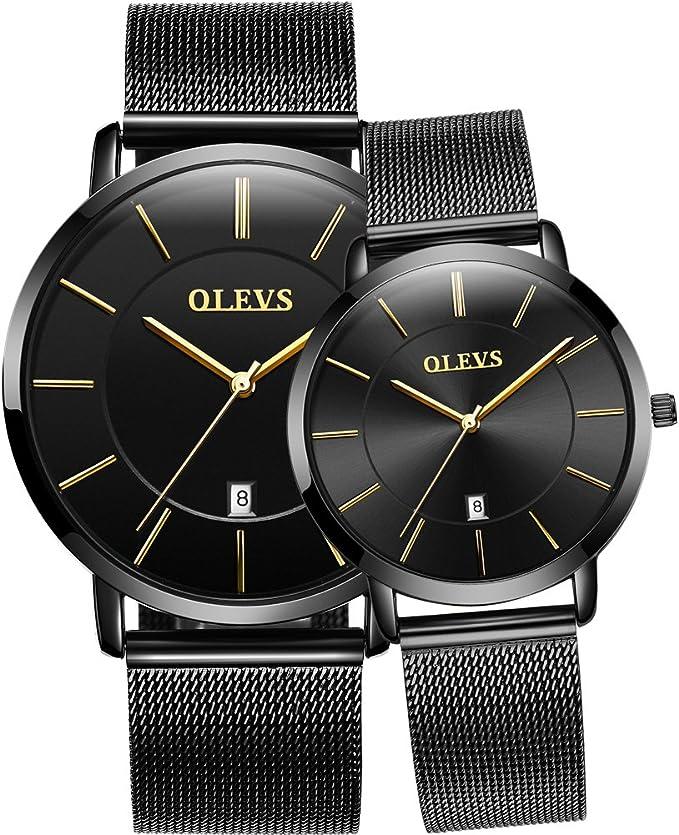 ejemplo de dos relojes de pulsera para parejas