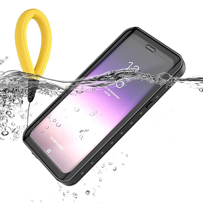 Samsung Galaxy S9 Plus Waterproof Case, LifeePro [Buoyancy Lanyard] Ultra  Slim 360 Degree Protection Case Waterproof Dustproof Anti Scratch Full