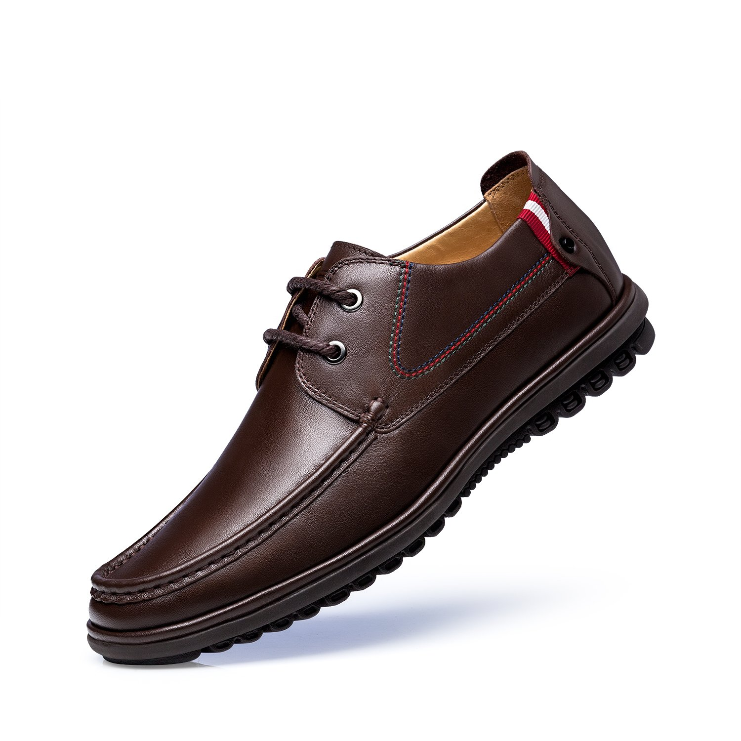 ZRO Men's Lace Up Business Casual Comfortable Shoes Brown US 8.5 by ZRO