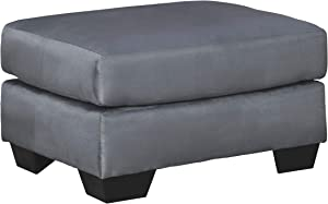 Signature Design by Ashley - Darcy Contemporary Oversized Accent Ottoman, Steel Gray
