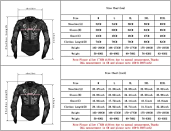 M Zyurong Black Body Armour MX Motocross Motorcycle Mountain Cycling Skating Snowboarding spine Protector Guard Bionic Jacket Black