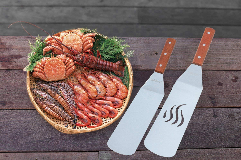 9 St/ück mit einem 30,5cm Schmelzdom onlyfire FPA-5117 Professionelles BBQ Grillwerkzeug Tool Set Ideal f/ür Plancha Kochplatte