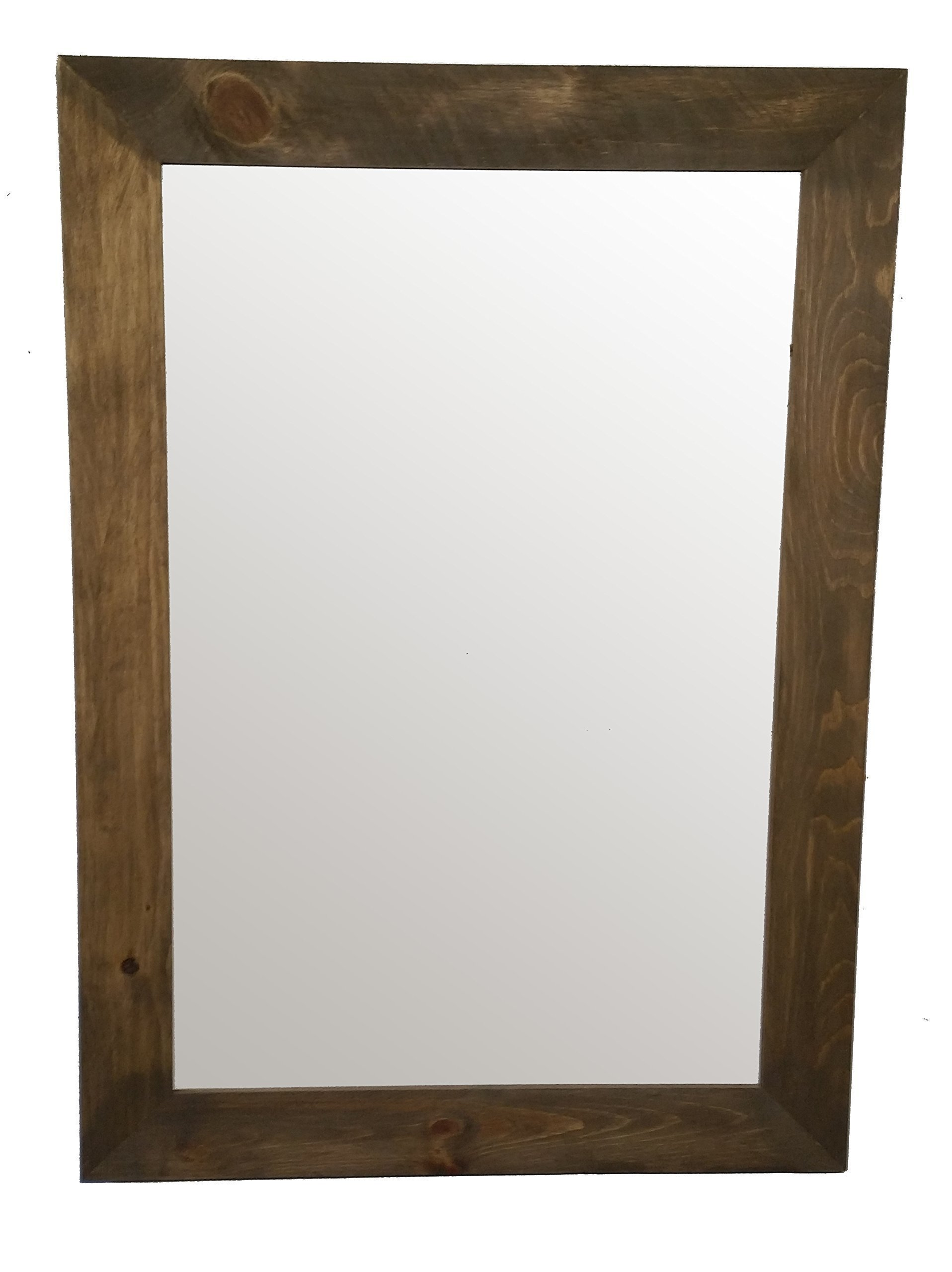 Shiplap Mirror 30 x 42 Vertical Driftwood Stain Reclaimed Wood Mirror - Large Wall Mirror - Rustic Modern Home - Home Decor - Mirror - Housewares - Woodwork - Frame by Renewed Decor