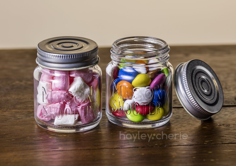 Amazoncom Hayley Cherie Mason Jar Shot Glasses With Lids Set
