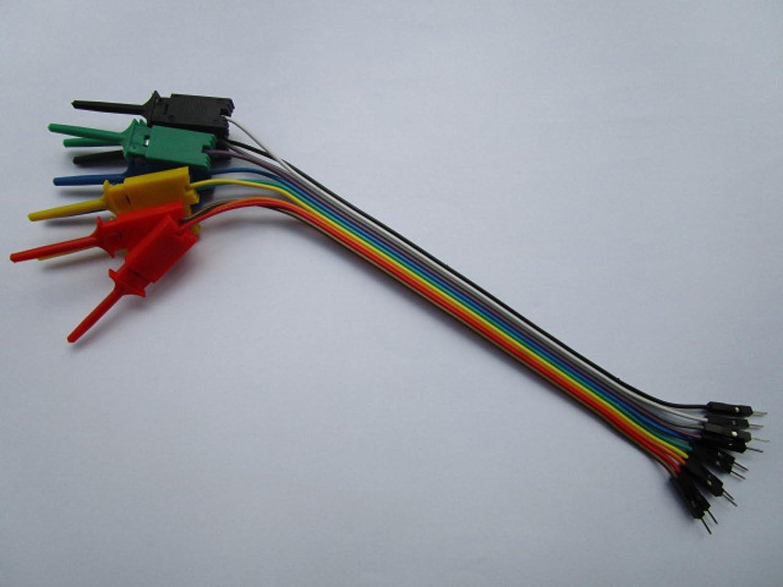 Amazon.com: 5 pcs Pitch 2.54mm Jumper Wire 1x10 pin Male to Flat ...