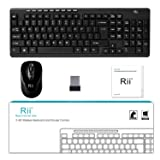 Wireless Keyboard and Mouse Combo-Rii RK905