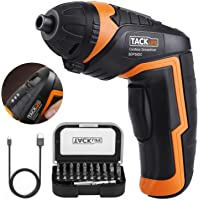 Tacklife SDP50DC 3.6-volt Electric Rechargeable Screwdriver with 31-Piece Driver Bits