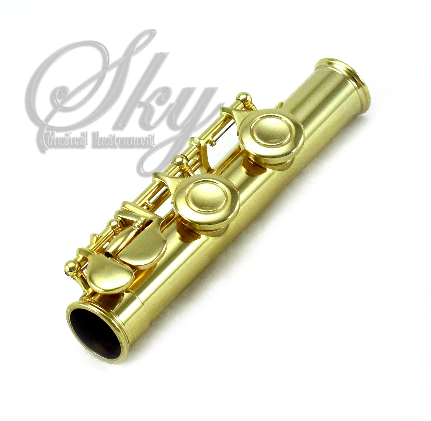 Sky 24k Gold Plated Gold Keys Closed Hole C Flute with 1 Year Manufacturer Warranty, Guarantee Top Quality Sound with Lightweight Case, Cleaning Rod, Cloth, Joint Grease and Screw Driver by Sky (Image #3)