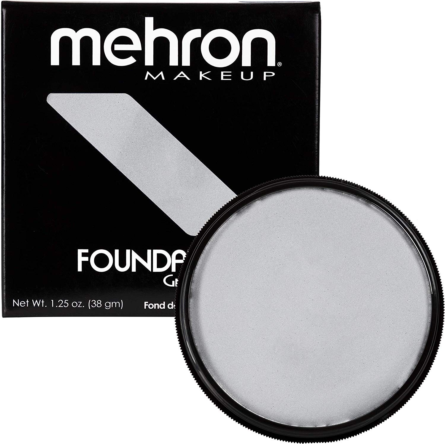 Mehron Makeup Foundation Greasepaint (1.25 ounce) (Silver)