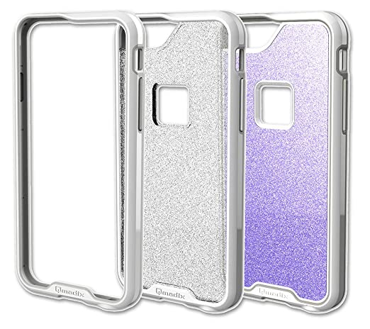 Qmadix R Series iPhone 6 Plus Set - Retail Packaging -  White/Glitter/Lavender