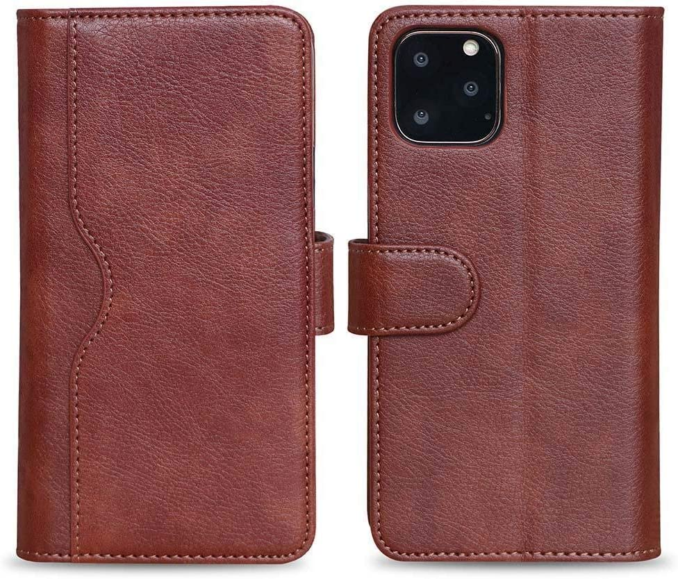 Speira V-Wallet Leather Case for iPhone 11 (Brown)