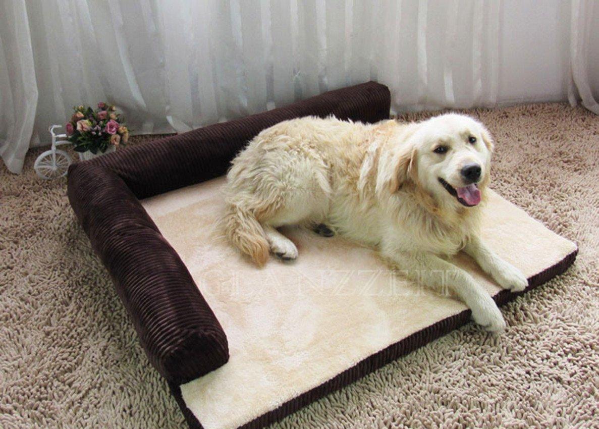 Sofá cama rectangular con cojín deluxe para gatos y perros de todos los tamaños, de Glanzzeit: Amazon.es: Productos para mascotas