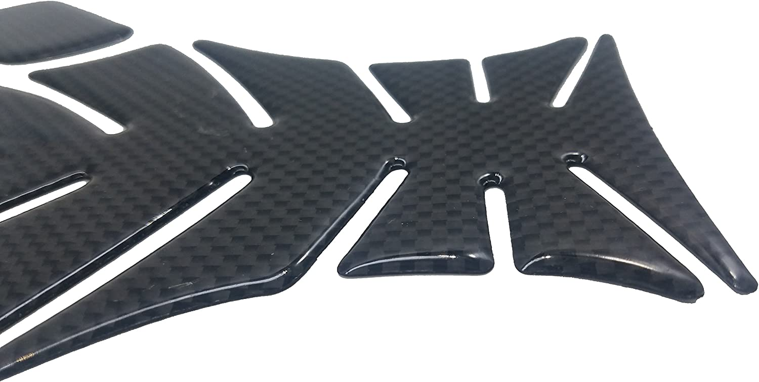 Big 8.6 Inches Real Carbon Fiber Chrome 3D Sticker Vinyl Decal Emblem Protection Gas Tank Pad for Kawasaki Ninja All Series