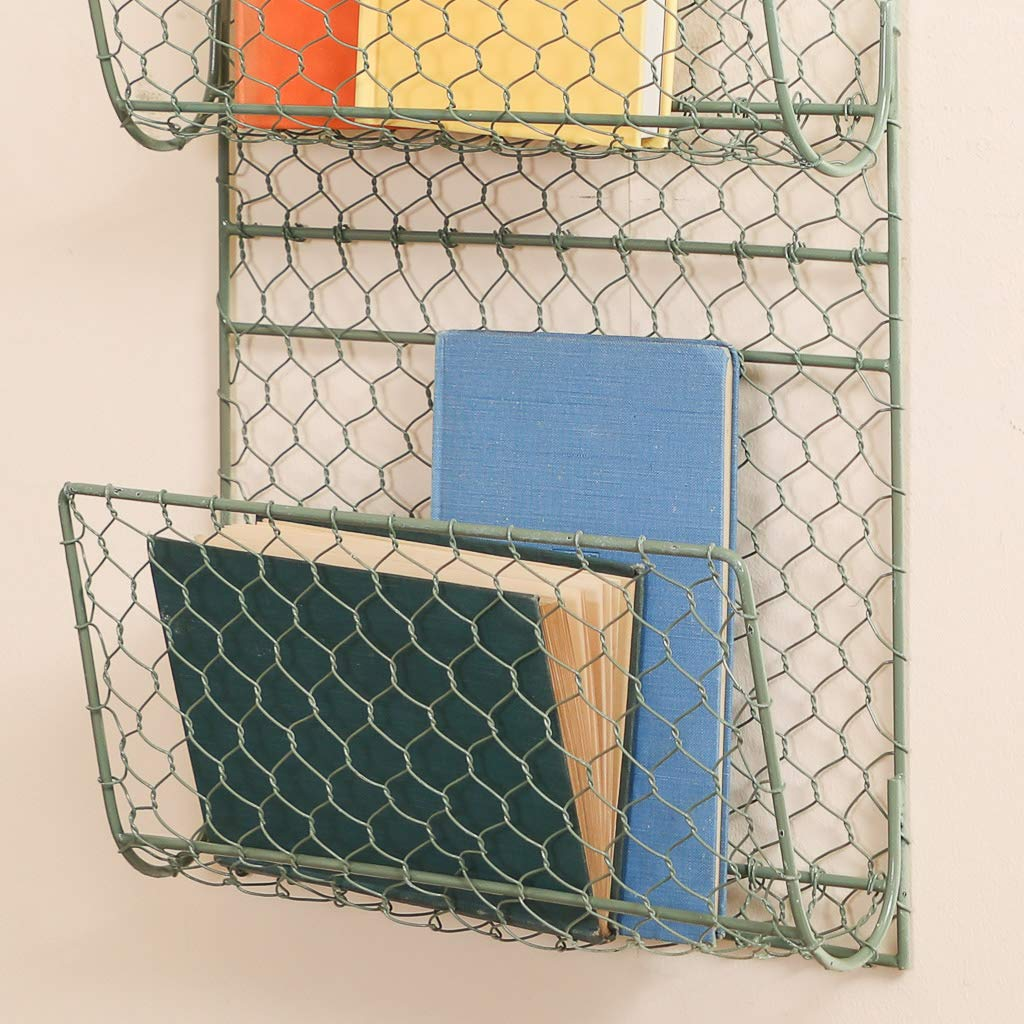 Gris Single Basket Cesta de almacenamiento de hierro para revistas y peri/ódicos de lujo hierro