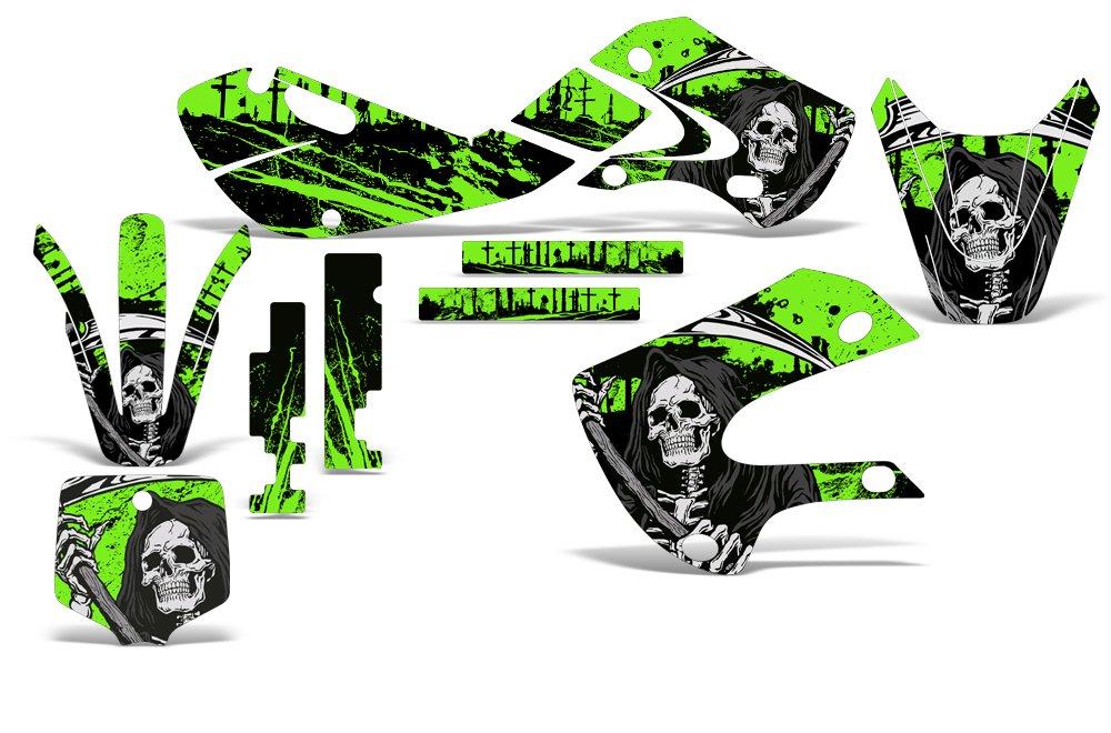 Kawasaki KLX110 KX65 2002-2009 Decal Graphics Kit for Dirt Bike MX Motocross REAPER GREEN