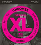D\'Addario ECB81 Chromes Bass Guitar Strings, Light, 45-100, Long Scale