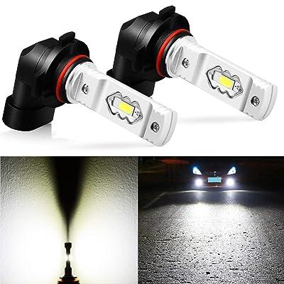 JDM ASTAR Extremely Bright High Power H10 9145 9140 9050 9155 LED Fog Light Bulbs, Xenon White: Automotive