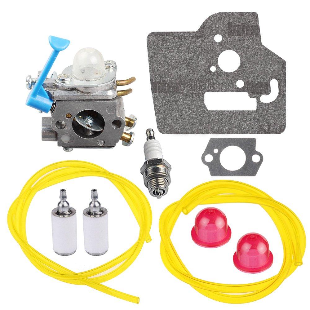 HIPA 545081848 C1Q-W40A Carburetor with Gasket Fuel Line Filter for Husqvarna 128c 128cd 128l 128ld 128ldx 128r Trimmer Edger by HIPA