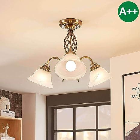 Lámpara de techo Mialina en Bronce hecho de Vidrio e.o. para ...