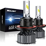 SEALIGHT Scoparc S1 H13/9008 LED Headlight Bulbs,High Beam and Low Beam,6000K Bright White,Halogen Replacement,Quick…