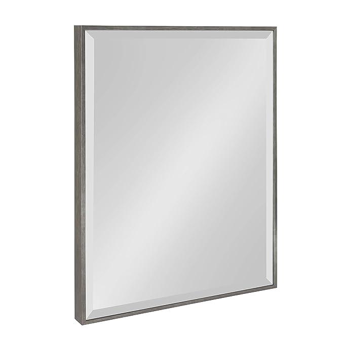 Kate and Laurel Rhodes Framed Wall Mirror 18.75x24.75 Dark Silver