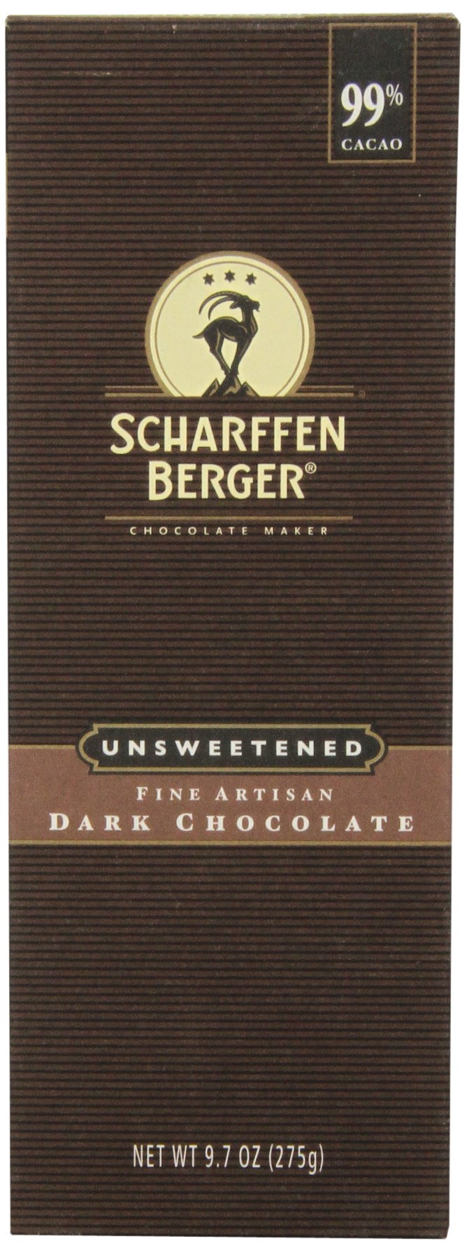 SCHARFFEN BERGER Dark Chocolate, 9.7oz, Unsweetened Chocolate
