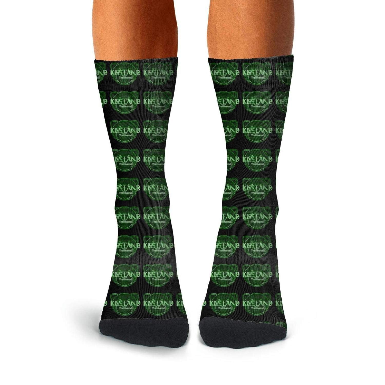 Mens Stocking Heather Classic The-Weeknd-Kiss-Land-Pattern Socks