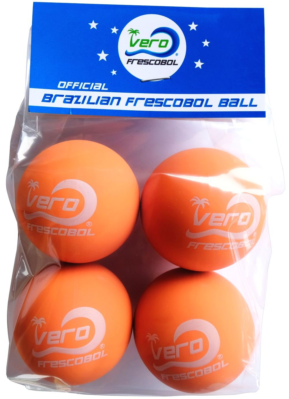 Frescobol Balls, Brazilian Papaya Orange Ball 4-pack by Frescobol