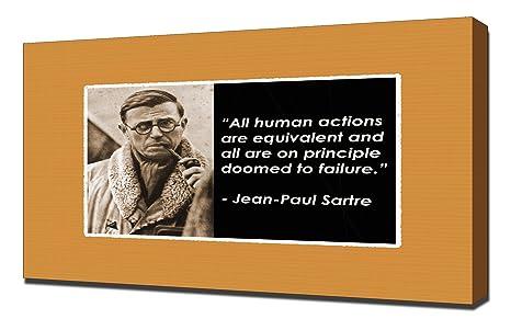 Amazoncom Jean Paul Sartre Quotes 3 Canvas Art Print