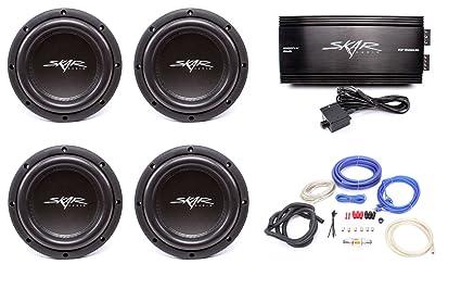 Amazon com: Skar Audio 4X VVX-8v3 D2 800 Watt Subwoofers