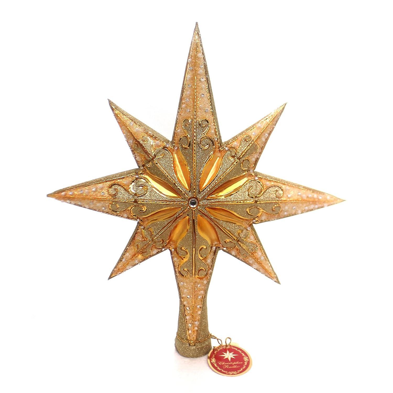 Star For Tree Part - 25: Amazon.com: Christopher Radko Champagne Stellar Finial: Kitchen U0026 Dining