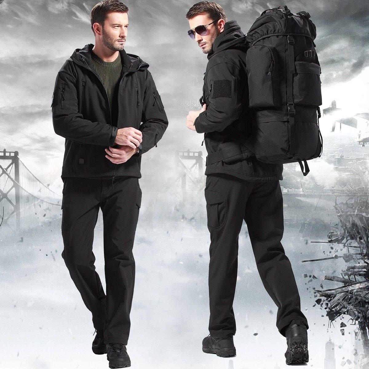 FREE SOLDIER Snow Pants Men Ski Pants Softshell Fleece Lined Winter Pants