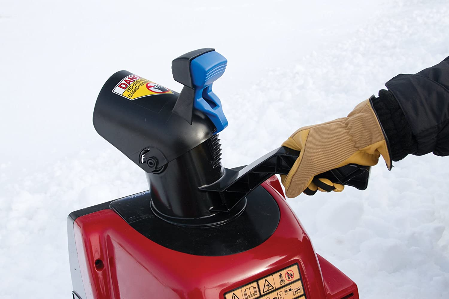 Toro electric snow blower can launch snow of up to twenty-five feet