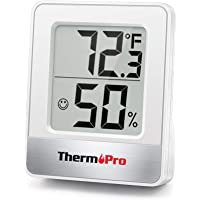 ThermoPro TP49-W Mini Hygrometer Thermometer with Large Digital Display Indoor Thermometer Humidity Gauge Monitor for…