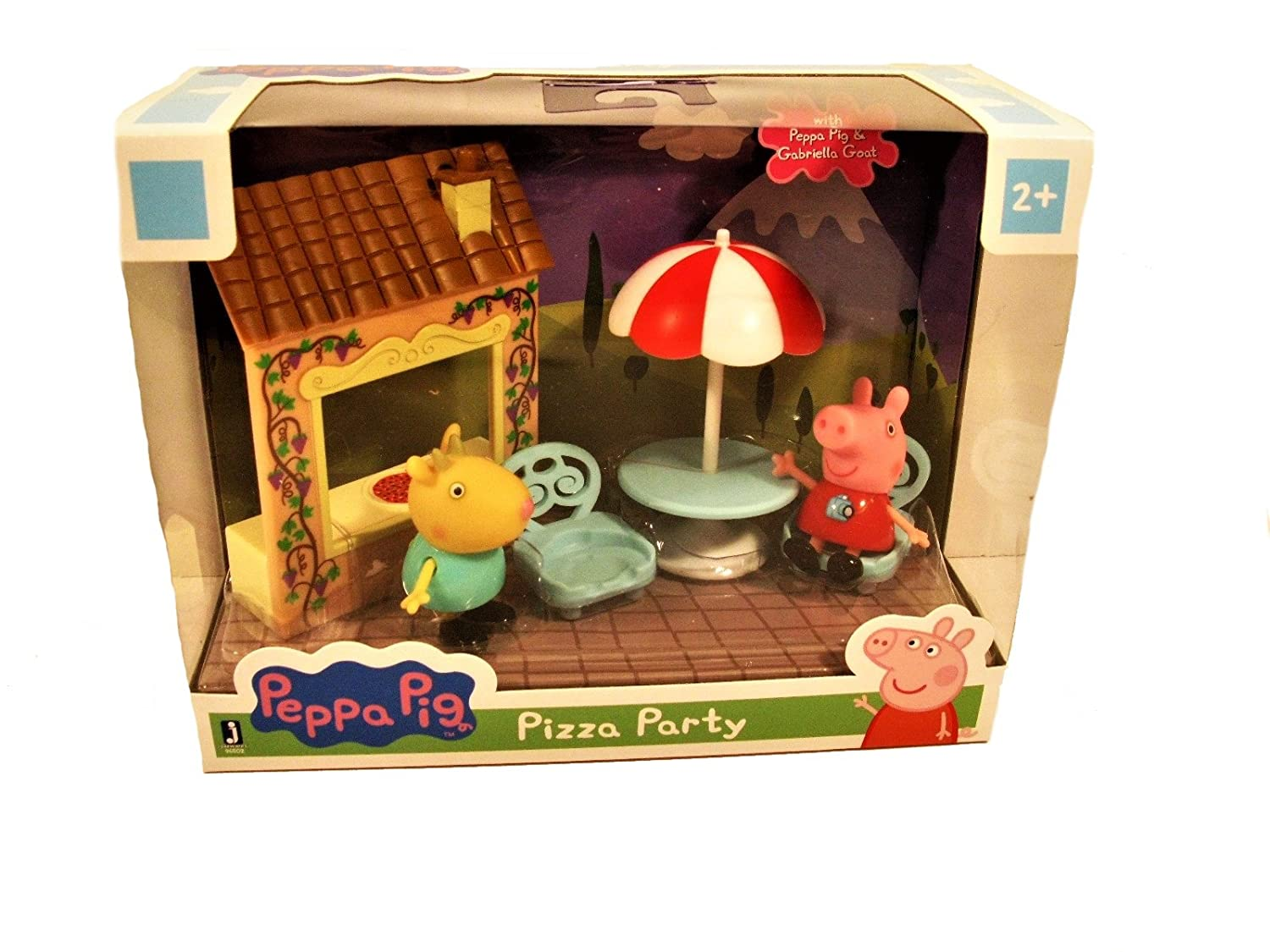 Amazon.com: Peppa Pig Pizza Party Playtime Set Jazwares: Toys & Games