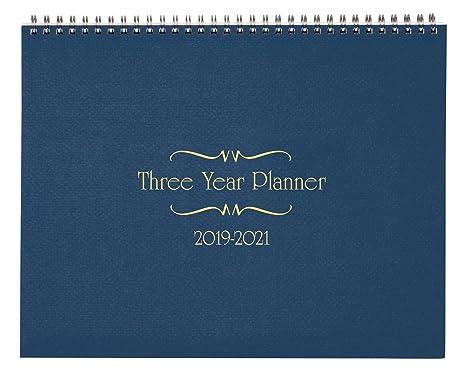 3 year calendar diary 2019 2021 blue