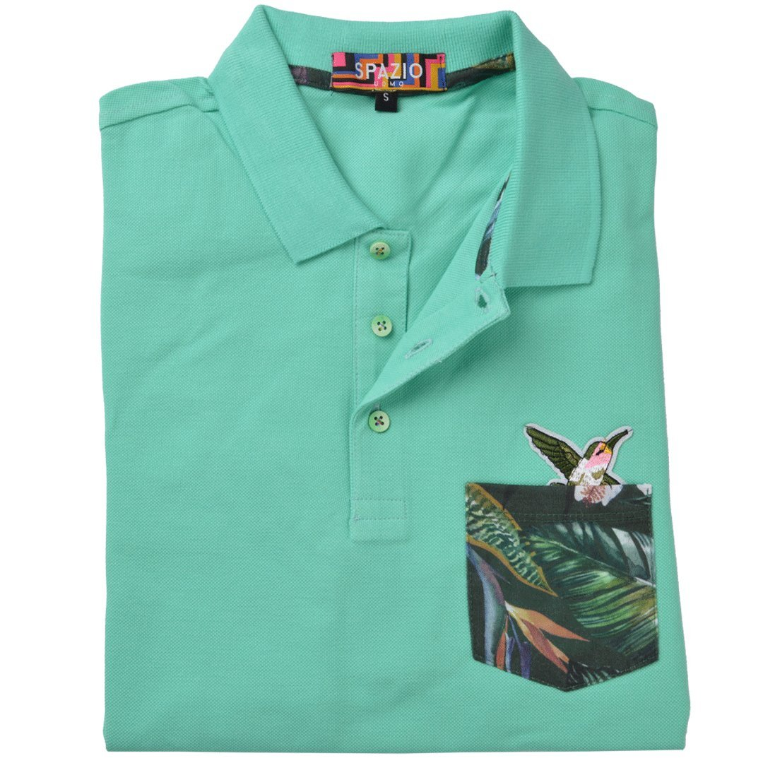 on sale 1bb06 990d6 Spazio| Fashion Clothing & Accessories Men's Avah Mint Polo ...
