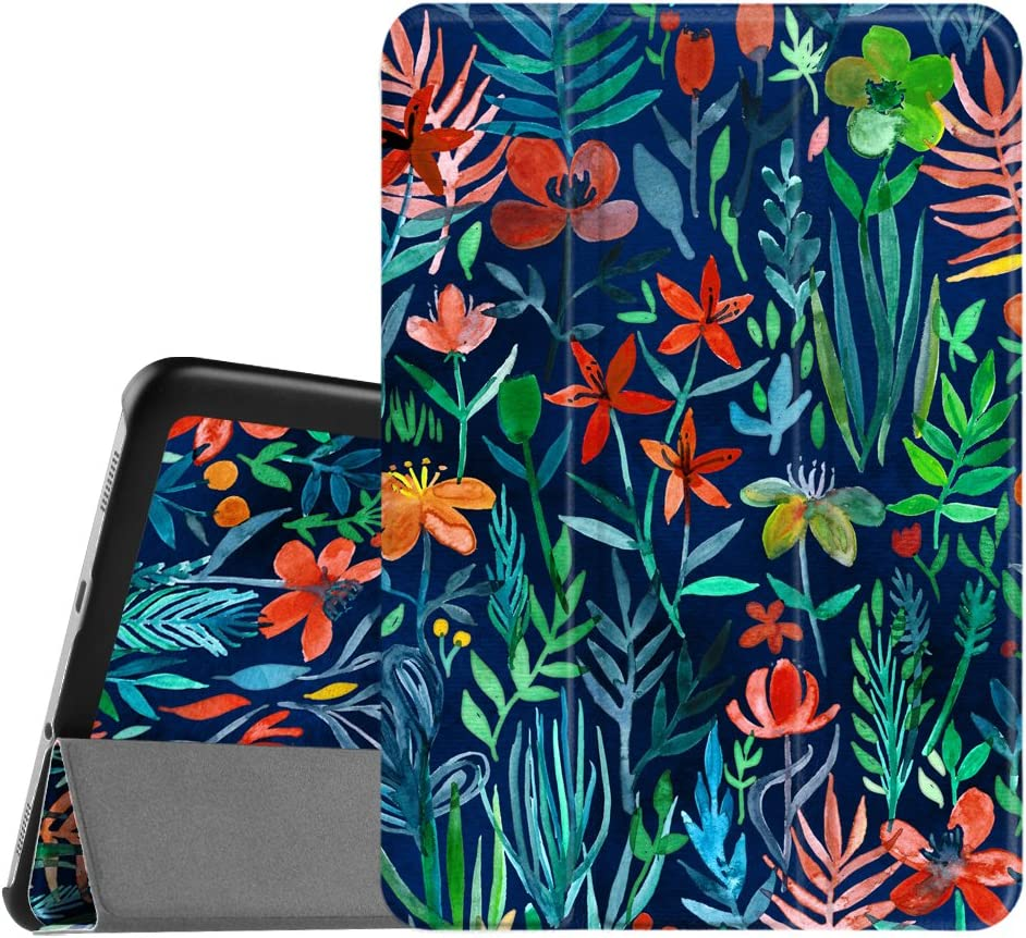 Fintie Slim Shell Case for Samsung Galaxy Tab S2 8.0 - Ultra Lightweight Protective Stand Cover with Auto Sleep/Wake Feature for Samsung Galaxy Tab S2/S2 Nook 8.0 Inch Tablet, Jungle Night