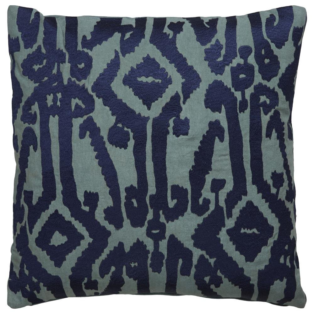 Jaipur部族パターンブルー綿ポリエステルFilled枕 18
