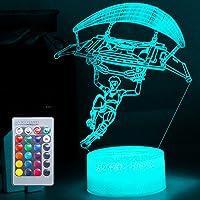 Speelliefhebber 3D nachtlampje LED speelgoed jongen cadeaus nachtlampje nachtkastje 16 kleuren tafellamp ideeën geschenk…