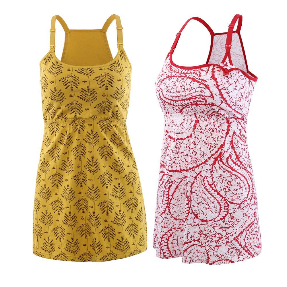 Topwhere Pregnancy Breastfeeding Shirt, Maternity Nursing Top Sleep Cami Summer Tank CH-JR9K-4E9J
