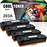 Cool Toner 4 Pack Compatible for HP 203X 203A CF540A CF541A CF542A CF543A CF540X Toner Cartridge Replacement for HP Color LaserJet Pro MFP M281fdw M281fdn M280nw, HP LaserJet Pro M254nw M254dw Toner